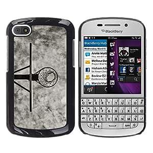 Stuss Case / Funda Carcasa protectora - B & W Canasta de baloncesto - BlackBerry Q10