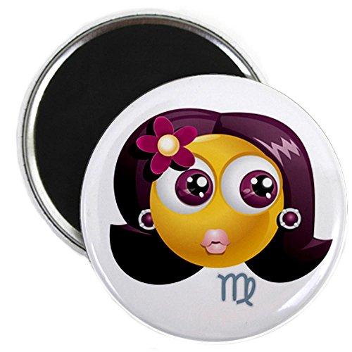2.25 Inch Magnet SmileyFace Zodiac Virgo