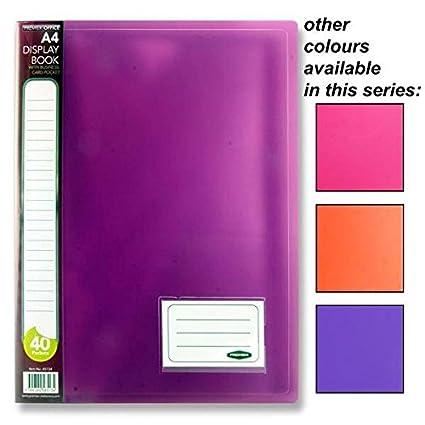 Tang Colour Presentation Display Book Folder x1 80 View Premier A4 40 Pocket