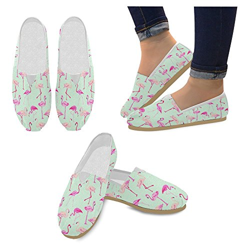 Mocassini Da Donna Di Interestprint Classico Su Tela Casual Slip On Scarpe Moda Scarpe Da Ginnastica Mary Jane Flats Flamingo Bird