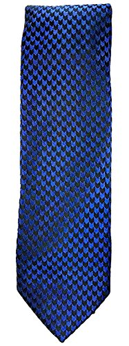 Hugo Boss Hugo Mens Blue With Black Arrows Patterned 100% Silk Tie (50324274 421) by Hugo Boss