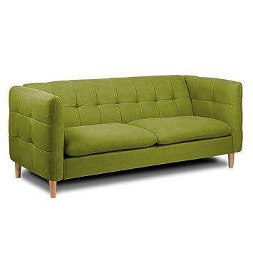 MLC Sofa 3 Sitzer Skandinavischer Stil Badeoase Stoff Tweed Grün