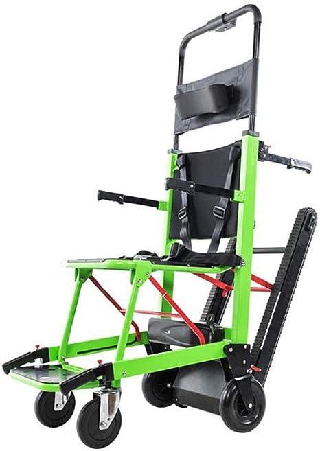 GLYIG La Silla de Ruedas Eléctrica Plegable Puede Subir Escaleras. para Discapacitados y Ancianos Totalmente Automático Sube y Baja La Silla de Ruedas Escaleras,Green: Amazon.es: Deportes y aire libre