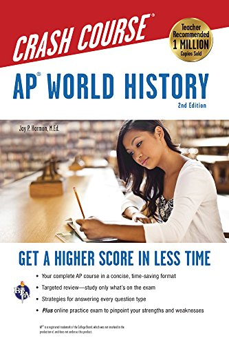 AP® World History Crash Course, 2nd Ed.,  Book + Online (Advanced Placement (AP) Crash Course) cover