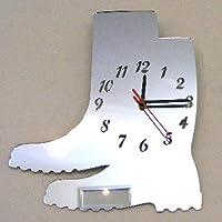 Wellington Boots Clock Mirror 35cm x 30cm