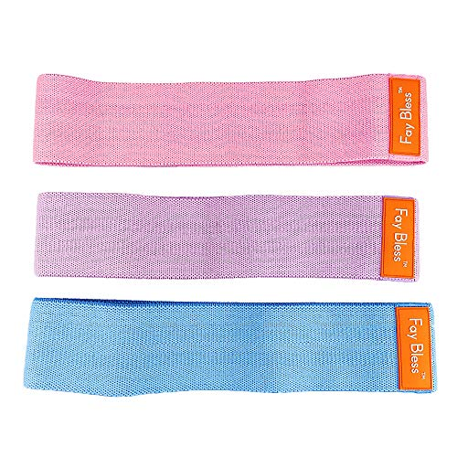 Fay Bless Resistance Bands Exercise Bands for Legs Butt Glute Training Fit Loop Booty Band for Men and Women - Set of 4 (Blue,Pink,Purple)