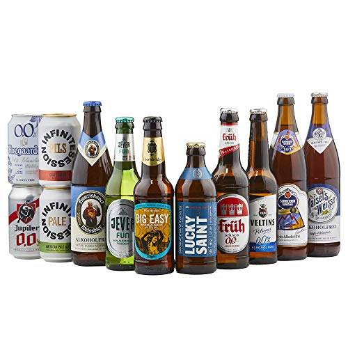 BEER HAWK Alcohol Free Mixed Case of 12 Craft Beers