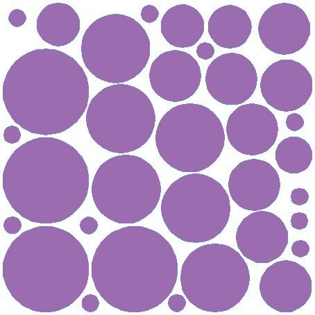 (N.SunForest 34 Lilac Polka Dots Vinyl Wall Decals Removable D¨¦cor Stickers Home Kitchen Baby Nursery Wall Art Mural)