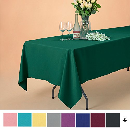Remedios 70 x 120-inch Rectangle Polyester Tablecloth Table Cover - Wedding Restaurant Party Banquet Decoration, Hunter Green (X Tablecloth 120 70)