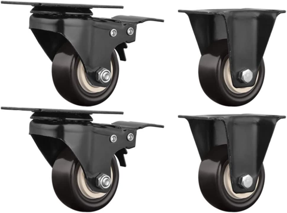 2in Casters,4 Pieces Small Office Chair Swivel Chair Castor Wheels,Electric Appliance Showcase Shelf Directional Wheel,Replace Accessories with Brake Furniture Casters 360/¡/ã//E