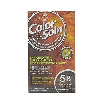 les 3 chenes coloration 5b marron chocolat coloration 60 ml fixateur 60 ml - Coloration 60