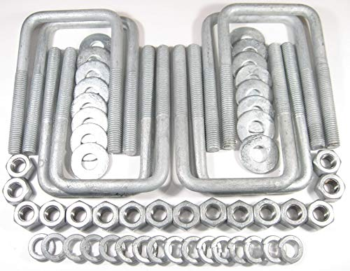 (8) HDG Hot Dipped Galvanized Square U-Bolt Boat Trailer U bolt Ubolt 1/2