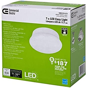 Commercial Electric 5 And 6 In Recessed White Led Trim 2