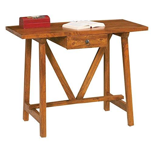 Mesa escritorio a cabrita completamente de madera maciza de ...