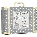 Child to Cherish Polka Dot Going to Grandma's Keepsake, Grey