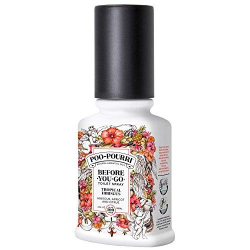 Poo-Pourri Before-You-Go Toilet Spray 2 oz Bottle, Tropical Hibiscus (Tropical Scented Perfumes)