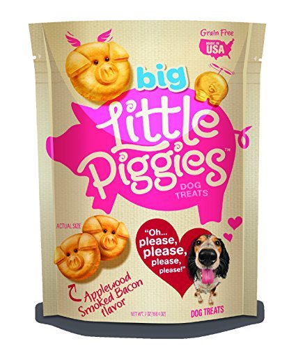 Little Piggies Dog Treats Applewood Smoked Bacon, 7 oz by Little Piggies