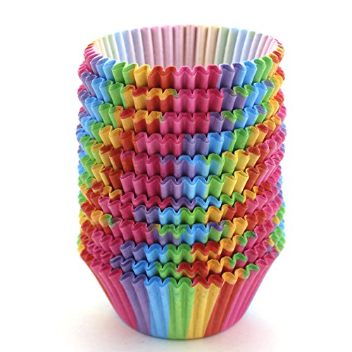 WARMBUY Standard Size Rainbow Cupcake Paper, Baking Cup,