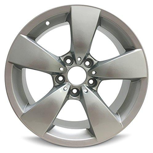 (Road Ready Car Wheel For 2004-2007 BMW 525i BMW 530i 2006-2010 BMW 528i BMW 550i 2008-2010 BMW 535i 17 Inch 5 Lug Gray Aluminum Rim Fits R17 Tire - Exact OEM Replacement - Full-Size Spare)