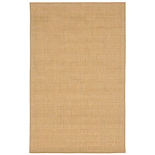 Liora Manne TER58176222 1762/22 Almond Terrace Casual Texture Indoor/Outdoor Rug, 4'10