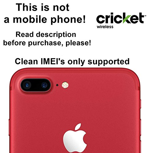 Cricket USA Unlocking Service for iPhone 7, 7 Plus, 6s, 6s Plus, SE, 6, 6 Plus, 5s, 5c, 5, 4s Models - Make Your Device More Useful Than Before - Choose Any Carrier at Your Own at Any Time You Need - No Re-lock Lifetime Guarantee
