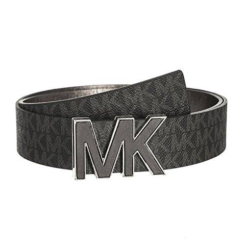 Michael Kors MK Signature Plaque Belt 553504 Black L (Belts Women Michael Kors)