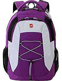 SA5933 Laptop Computer Tablet Notebook Backpack - for School, Travel, Carry On Luggage, Women, Men, Student, Professional Use - Purple, 19 Inches