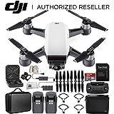 DJI Spark Portable Mini Drone Quadcopter Fly More Combo Portable Bag Shoulder Travel Case Bundle (Alpine White)