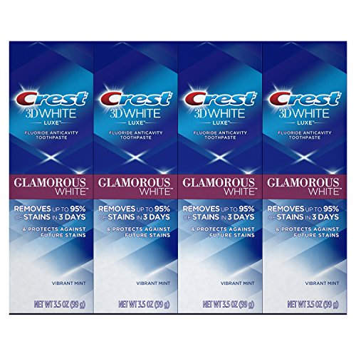 Crest 3D White Luxe Glamorous White Toothpaste, 3.5 oz 4-PACK by Crest (Image #1)