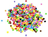 Pom Pom Crafts Small Mini Poms For Crafts - Coloured 500 Assorted Colours 8mm