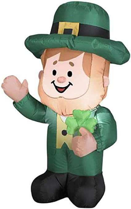 Amazon.com: Gemmy Leprechan irlandés hinchable de 11.5 ft St ...