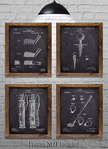 (Gift for Golfers - Vintage Golf Patent Prints - Set of Four 8