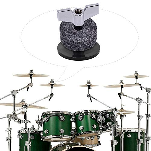 hAohAnwuyg Drum Accessories Kit,Tap Keyboard Instrument,18Pcs/Set Cymbal Stand Felt Hi-Hat Clutch Cup Wing Nuts Sleeves Drum Accessories