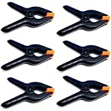 LimoStudio 6 PCS Black Nylon Muslin/Paper Photo Backdrop Background Clamps, 3.75 inch, AGG1242