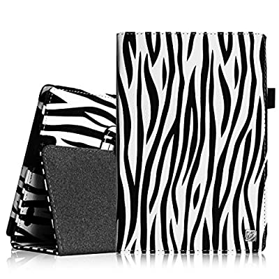 "Fintie Folio Case for Kindle Fire HD 7"" (2013 Old Model) - Slim Fit Folio Case with Auto Sleep / Wake Feature (will only fit Amazon Kindle Fire HD 7, Previous Generation - 3rd), Zebra"