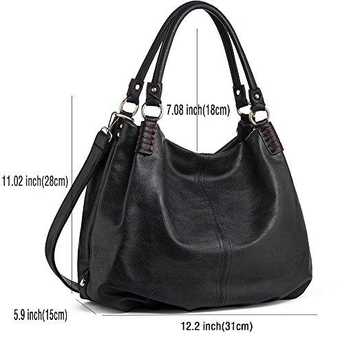 Handbags Women Tote Leather H28CM for PU L31CM Hobo Women ANGEL Ladies Bags Bags IN Handbags Shoulder W15CM Black Bags Big Crossbody 6OPaxHZ