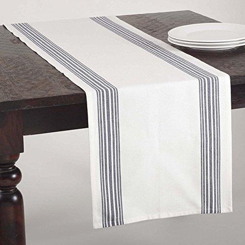 Fennco Styles Multi Ligne Printed Striped Design Table Runner - 4 Colors - 16