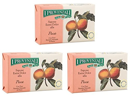 i-provenzali-pesca-extra-gentle-soap-peach-scent-53-ounce-150g-package-pack-of-3-italian-import-
