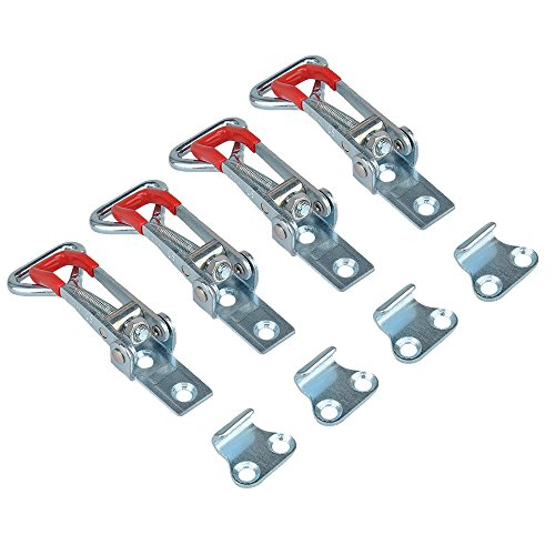 Type Latch (E-TING 4PCS 150Kg 330Lbs Triangle Shaped Lever Latch Capacity Pull Action Latch Type Toggle Clamp 4001)