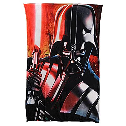 Kid's Colorful Character Silk Touch HD Blanket (Star Wars (Darth Vader) (Star Wars Darth Vader Blanket)
