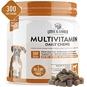 300 Chews New Developed Formula Daily Multivitamin Chews for Dogs – Non GMO Vet Developed Breakthrough Formula Provides… Click on image for further info.