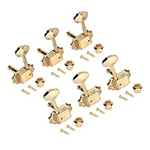 Aklot Electric Guitar Tuning Pegs Gold 3L3R Machine Heads Tuners Keys Set for Guitar Parts