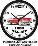 1956 CHEVROLET BEL AIR WALL CLOCK-FREE USA SHIP-Choose 1 of 4