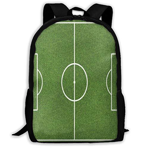 Adult Travelc Laptop Backpack,Soccer Field Grass Motif Stadium Game Match Winner Sports Area Print,College School Computer Bookbag
