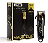Wahl Professional 5-Star Limited Edition Black & Gold Cordless Magic Clip #8148-100 - Great for Barbers and Stylists - Precision Cordless Fade Clipper Loaded with Features
