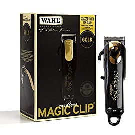 Wahl Professional 5-Star Limited Edition Black & Gold Cordless Magic Clip #8148-100 - Great for Barbers and Stylists - Precision Cordless Fade Clipper Loaded with Features - 51tRvPn7 2BKL - Wahl Professional 5-Star Limited Edition Black & Gold Cordless Magic Clip #8148-100 – Great for Barbers and Stylists – Precision Cordless Fade Clipper Loaded with Features