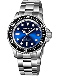 NEYMAR 40mm Automatic watch 1000m Dive Watch Swiss 2824 Automatic Movement 500m Watch (Steel blue surface)