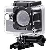 Yosoo- 4K Action Camera, WaterproofUltra HD 2.0inch Large Screen WiFi Sports Camera Waterproof Case Accessory Kit