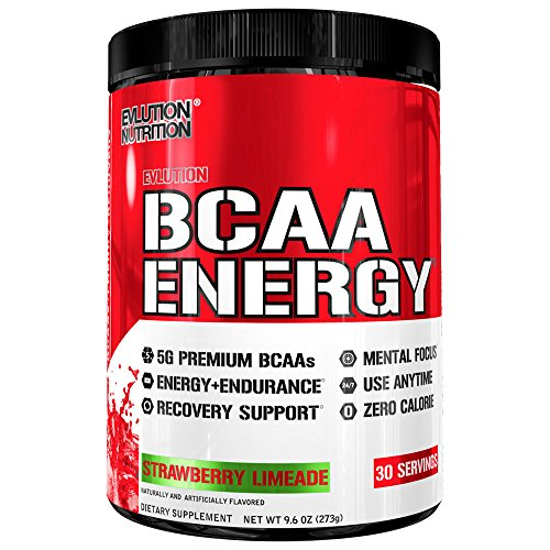 Evlution Nutrition BCAA Energy - High Performance, Energizing Amino Acid Supplement for Muscle Building, Recovery, and Endurance, 30 Servings (Strawberry Limeade)