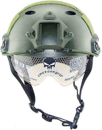 iMeshbean Airsoft SWAT Helmet Combat Fast Helmet Wing-LOC Adapter, Helmet Bag as The Gift by i-mesh-bean
